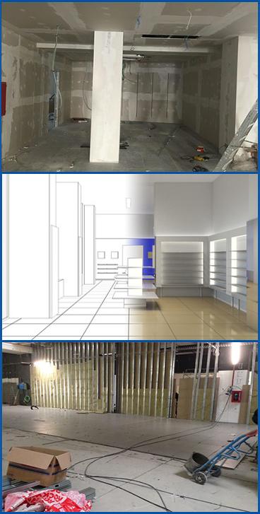 Servizi edili di ristrutturazione negozio a Firenze