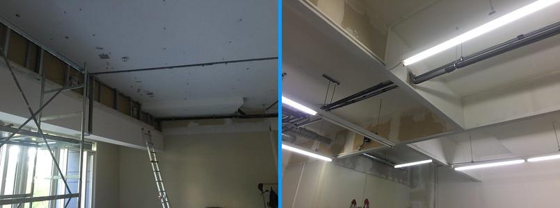 Negozio: ristrutturazione del soffitto.